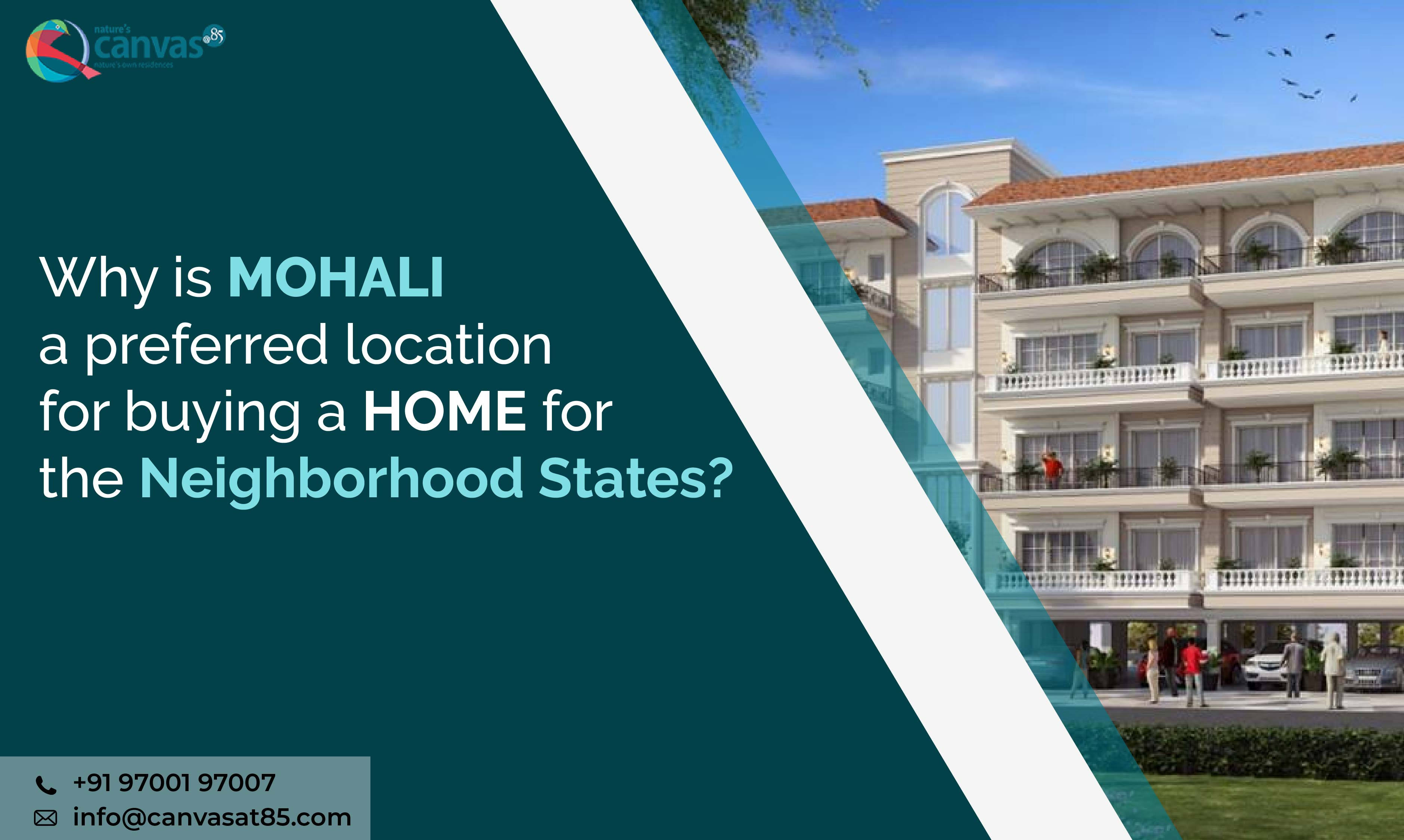 Why is MOHALI a preferred location for buying a home?