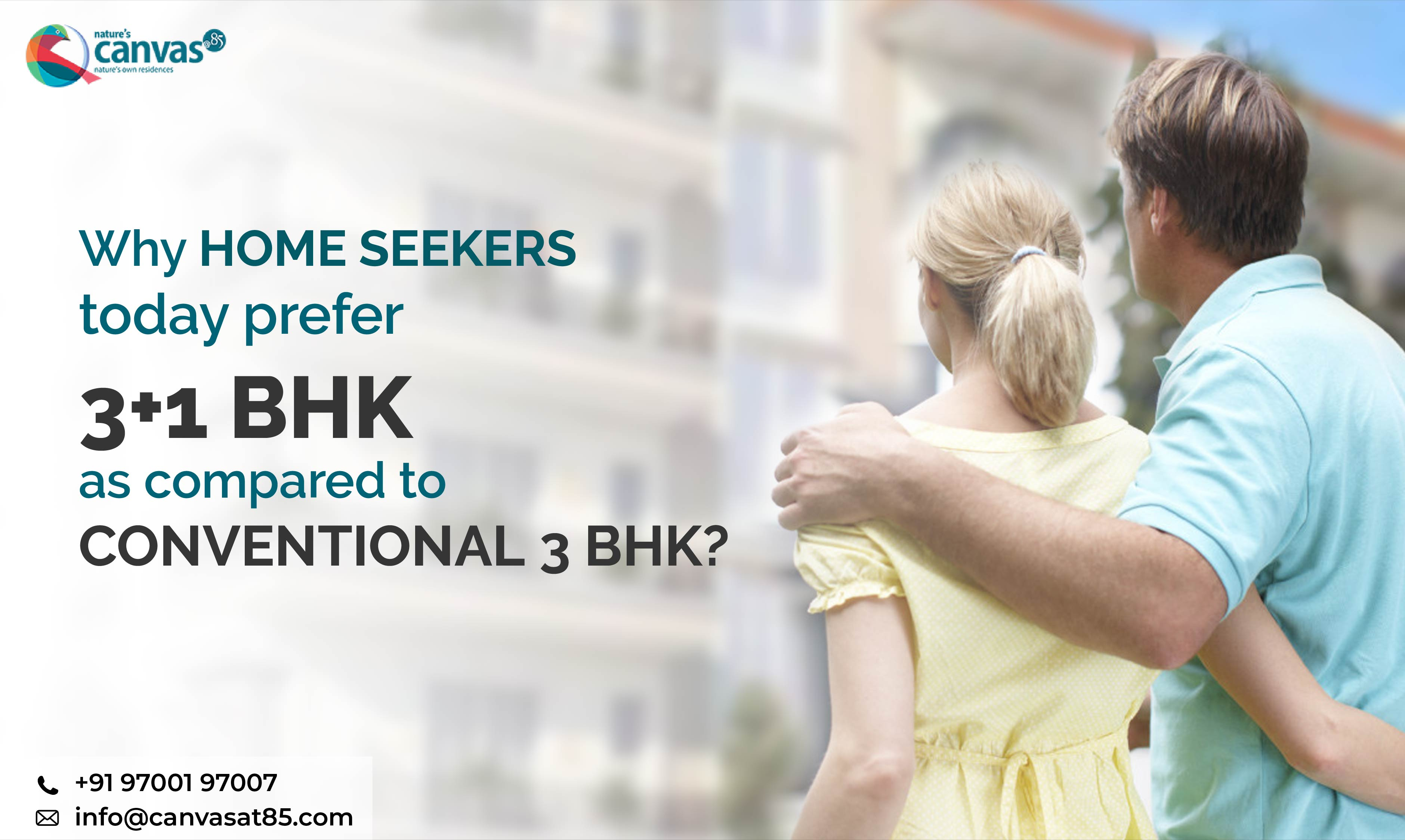 home seekers today prefer 3+1 BHK