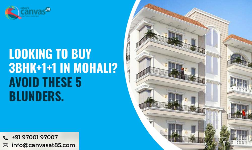 Buy 3BHK+1+1 in Mohali
